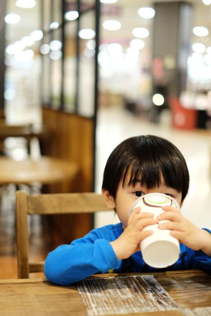 カフェと息子